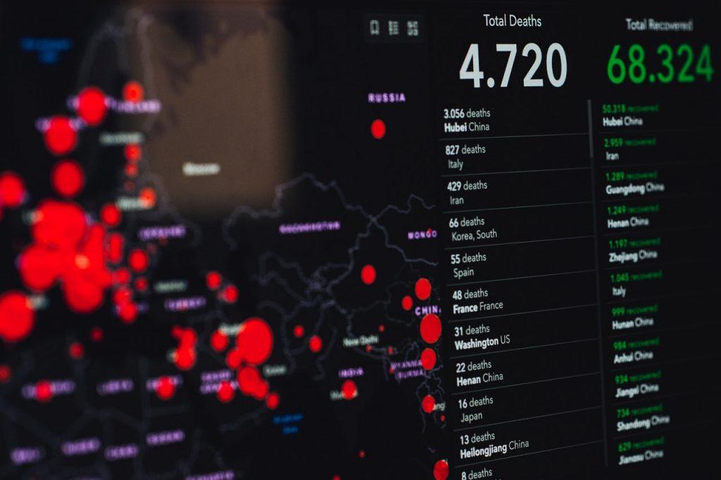 Visualization of data on the Corona pandemic