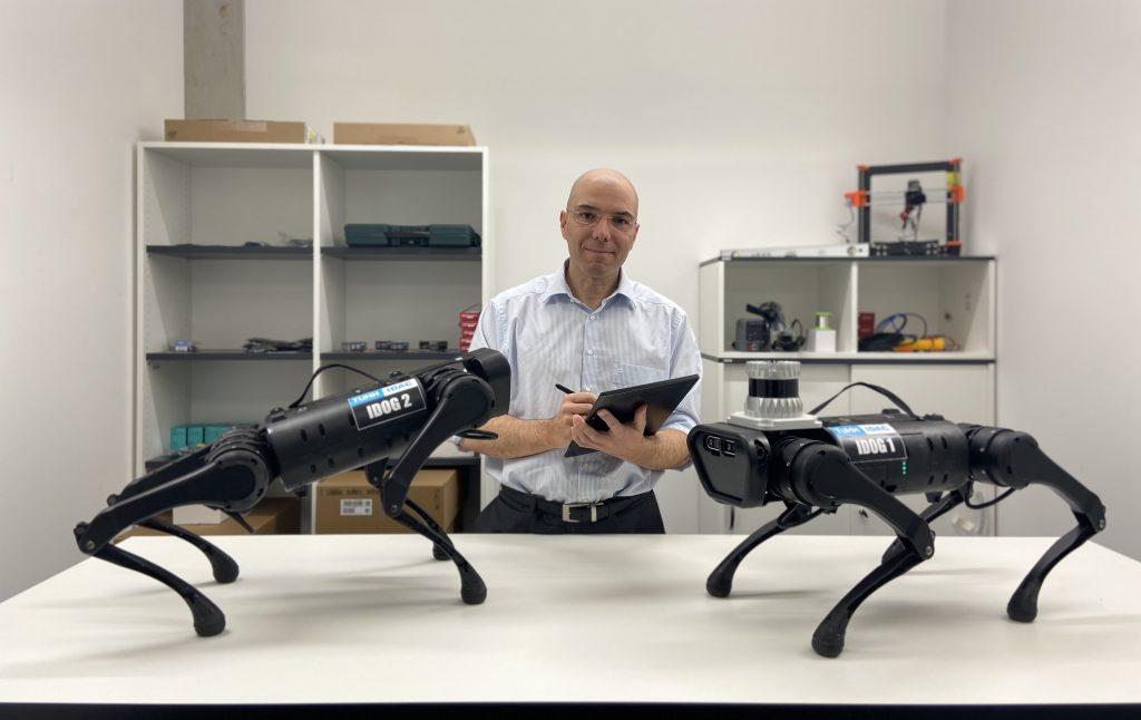 Prof. Kay Smarsly vom Institut für Digitales und Autonomes Bauen der TU Hamburg entwickelt unter anderem Roboter, die Gebäude digital vermessen können.